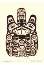 Haida Beaver - TTSAANG by Bill Reid Matted 7442