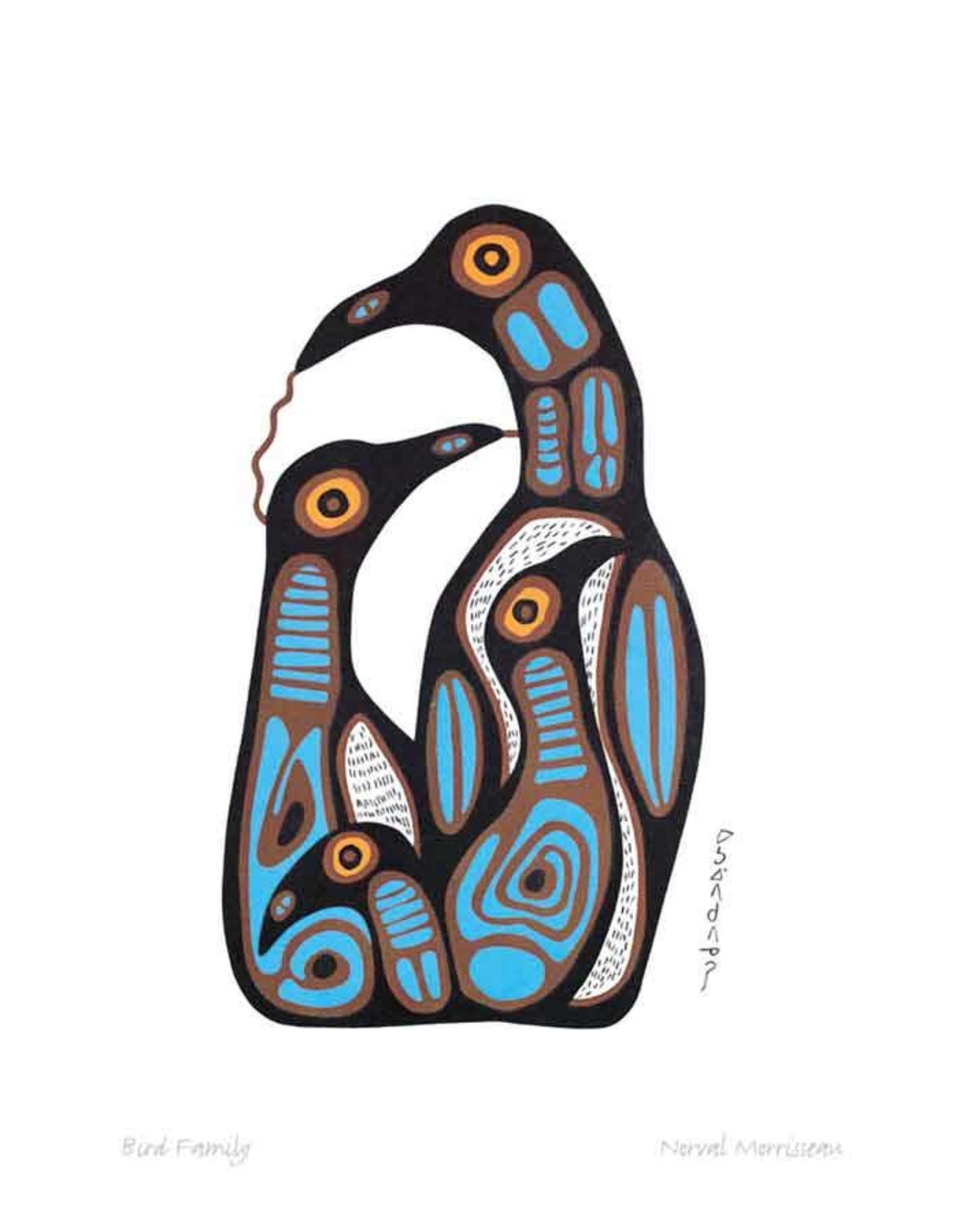 Bird Family par Norval Morrisseau Montée sur Passe-Partout
