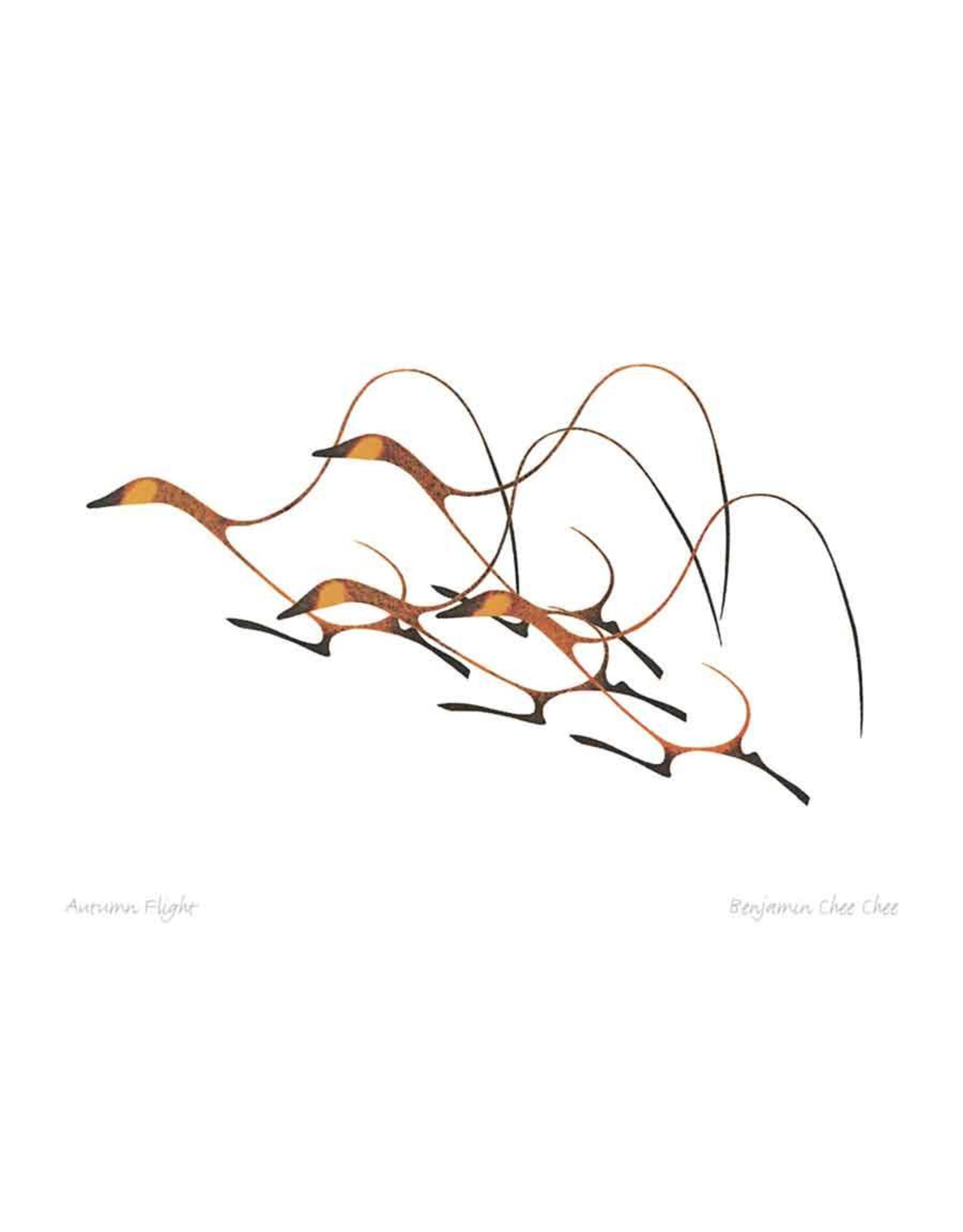 Autumn Flight by Benjamin Chee Chee Matted