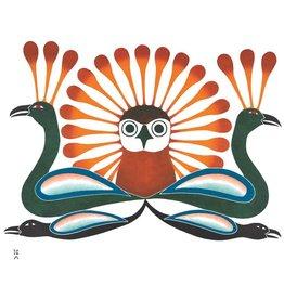 Sunburst Owl par Kenojuak Ashevak Montée sur Passe-Partout
