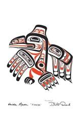 Haida Raven - XUUYA by Bill Reid Matted 20025