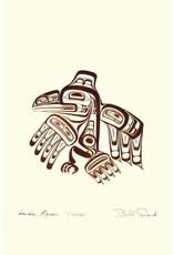 Haida Raven - XUUYA by Bill Reid Matted 7438