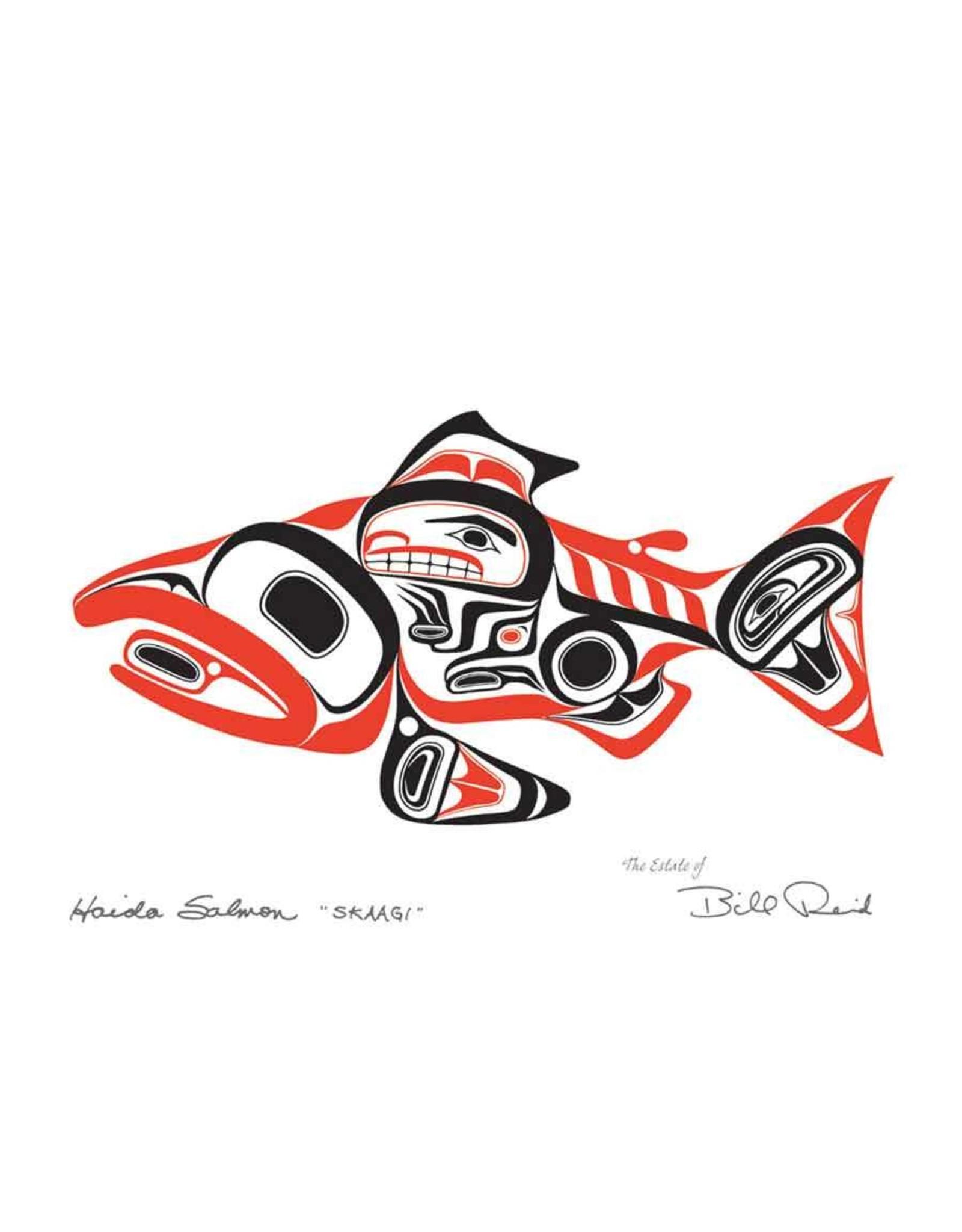 Haida Salmon - SKAAGI by Bill Reid Framed 20028