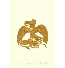The Eagle and the Frog par Bill Reid Encadrée