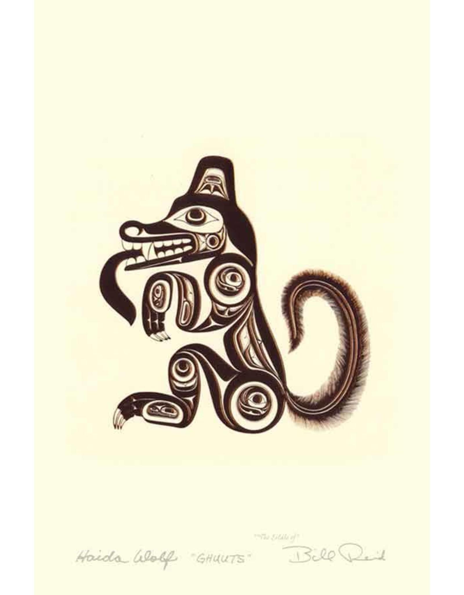 Haida Wolf by Bill Reid Framed