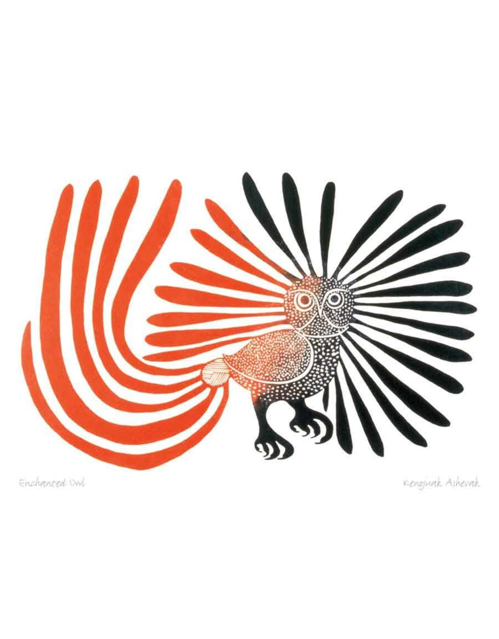 Enchanted Owl par Kenojuak Ashevak Encadrée