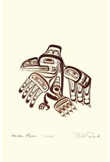 Haida Raven - XUUYA by Bill Reid 7438 Framed