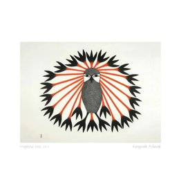 Majestic Owl, 2011 par Kenojuak Ashevak Encadrée