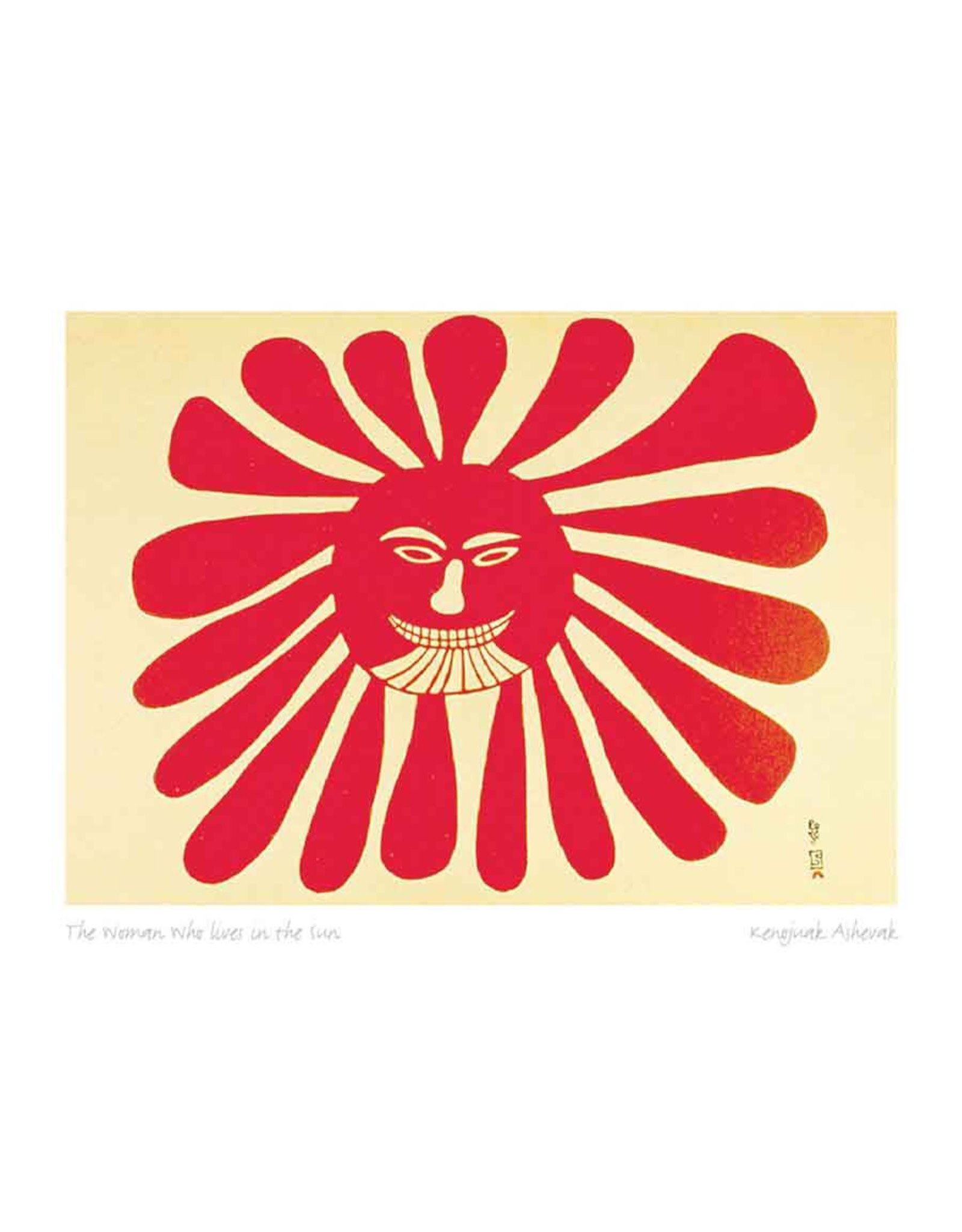 The Woman Who Lives in the Sun by Kenojuak Ashevak Framed