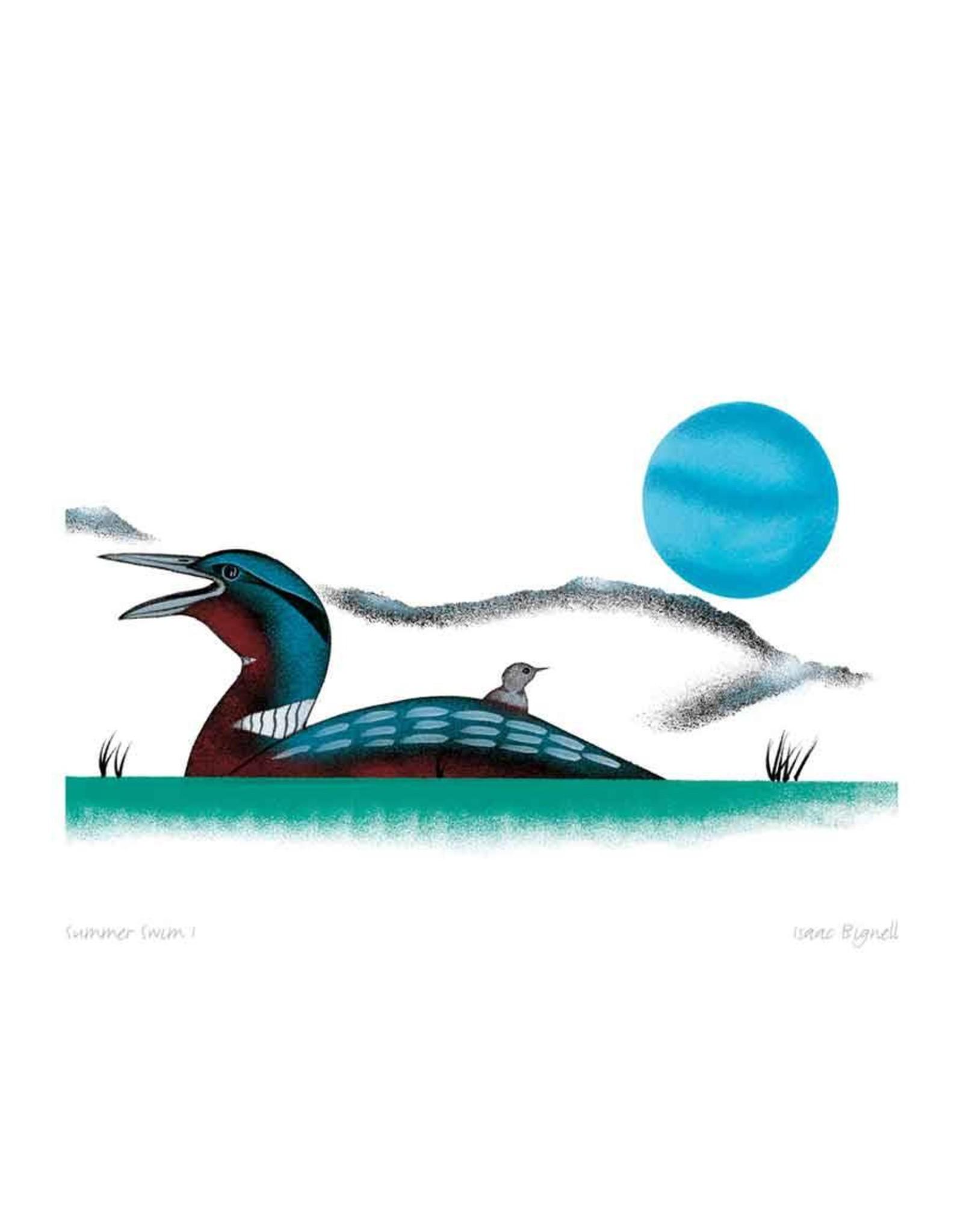 Summer Swim I by Isaac Bignell Framed