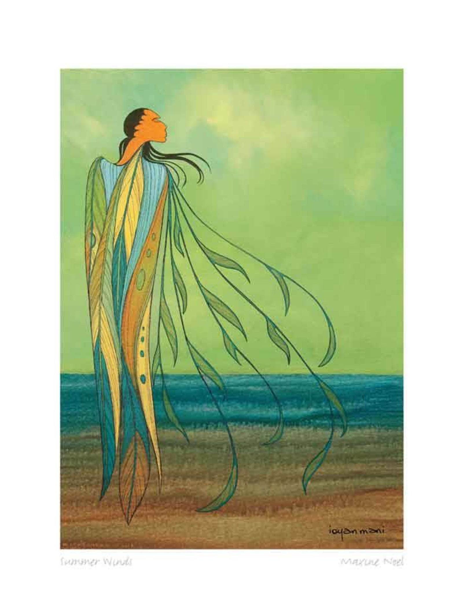 Summer Winds par Maxine Noel Encadrée