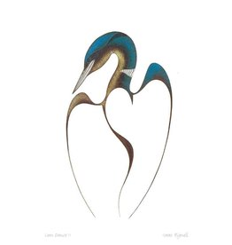 Loon Dance II par Isaac Bignell Encadrée