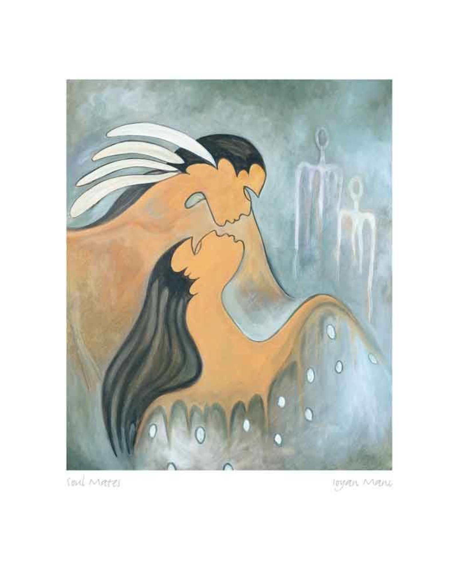 Soul Mates by Maxine Noel Framed