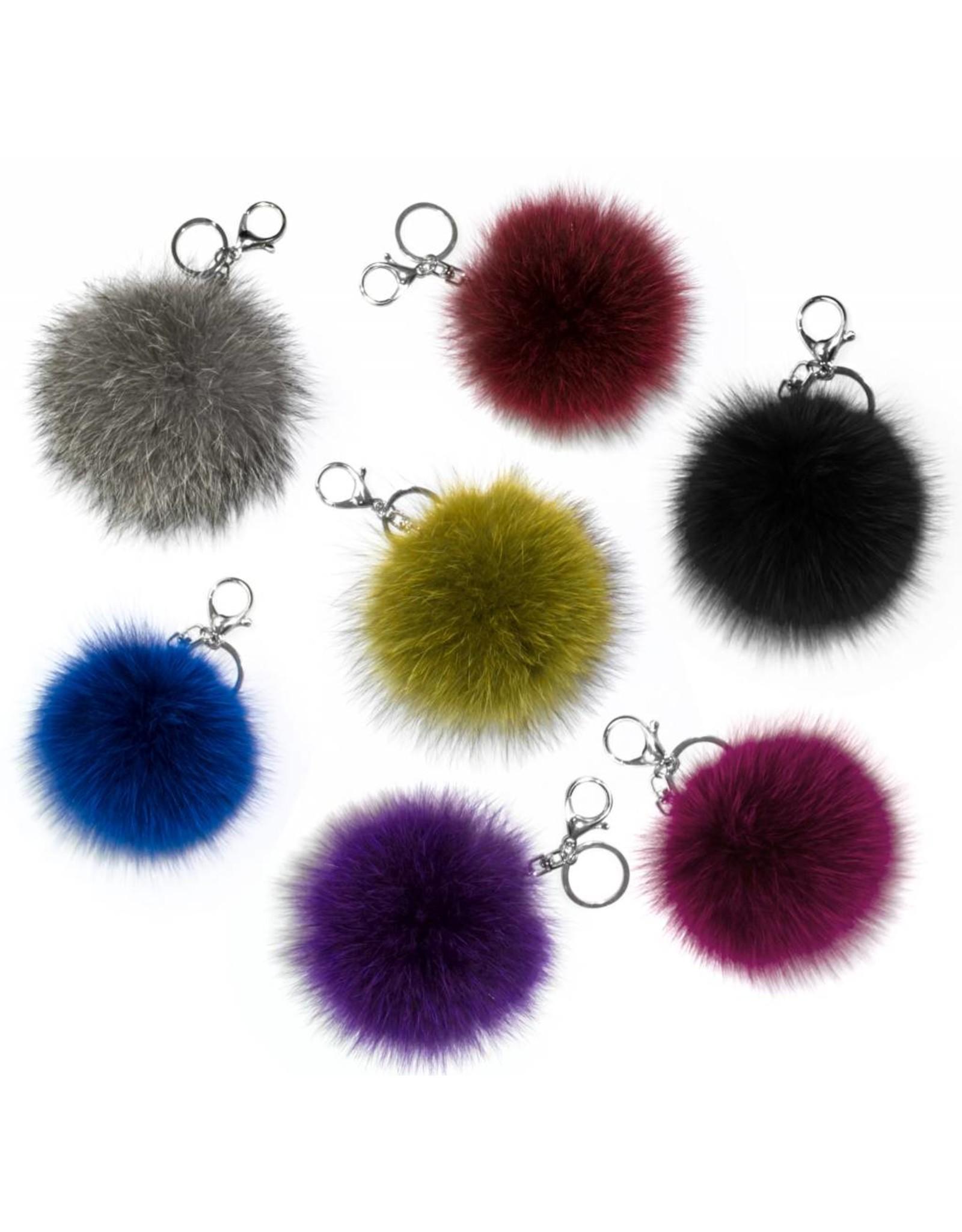 Fur Pompom Keychain