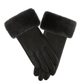 Sheared Beaver Trim Leather Gloves