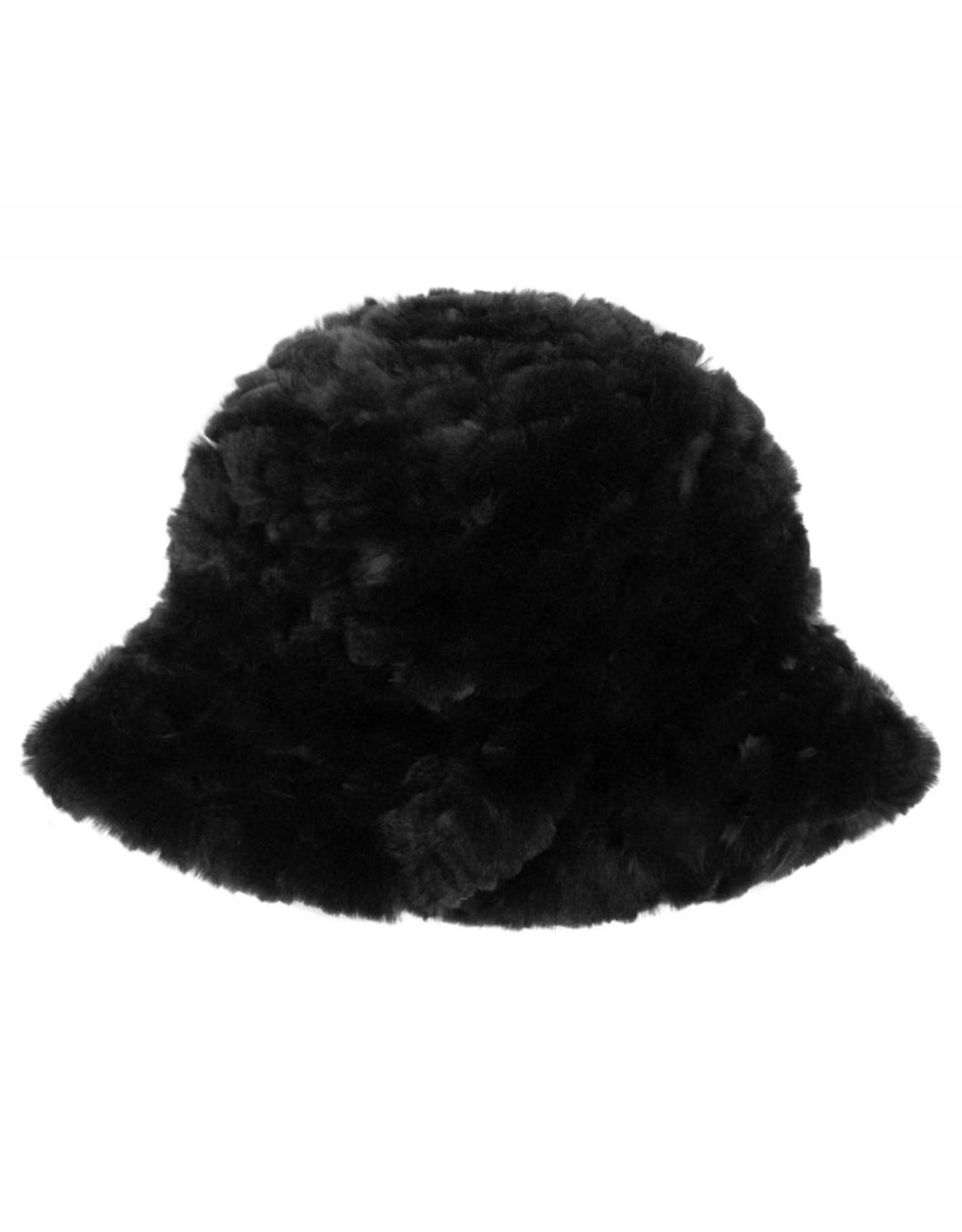 Chapeau Fourrure Lapin Tricoté