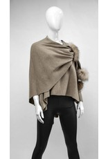 Wool Wrap with Fur