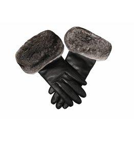 Chinchilla Trim Leather Gloves