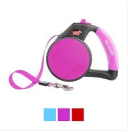 WIGZI WIGZI DOG LEASH GEL RETRACTABLE PINK MED