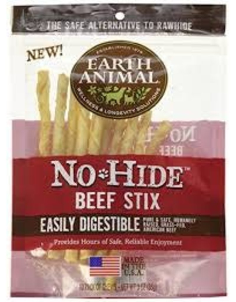 EARTH ANIMAL EARTH ANIMAL NO HIDE BEEF STIX 3 OZ 10 PK