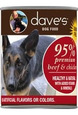 DAVE'S PET FOOD DAVE'S 95% BEEF & CHICKEN 13OZ