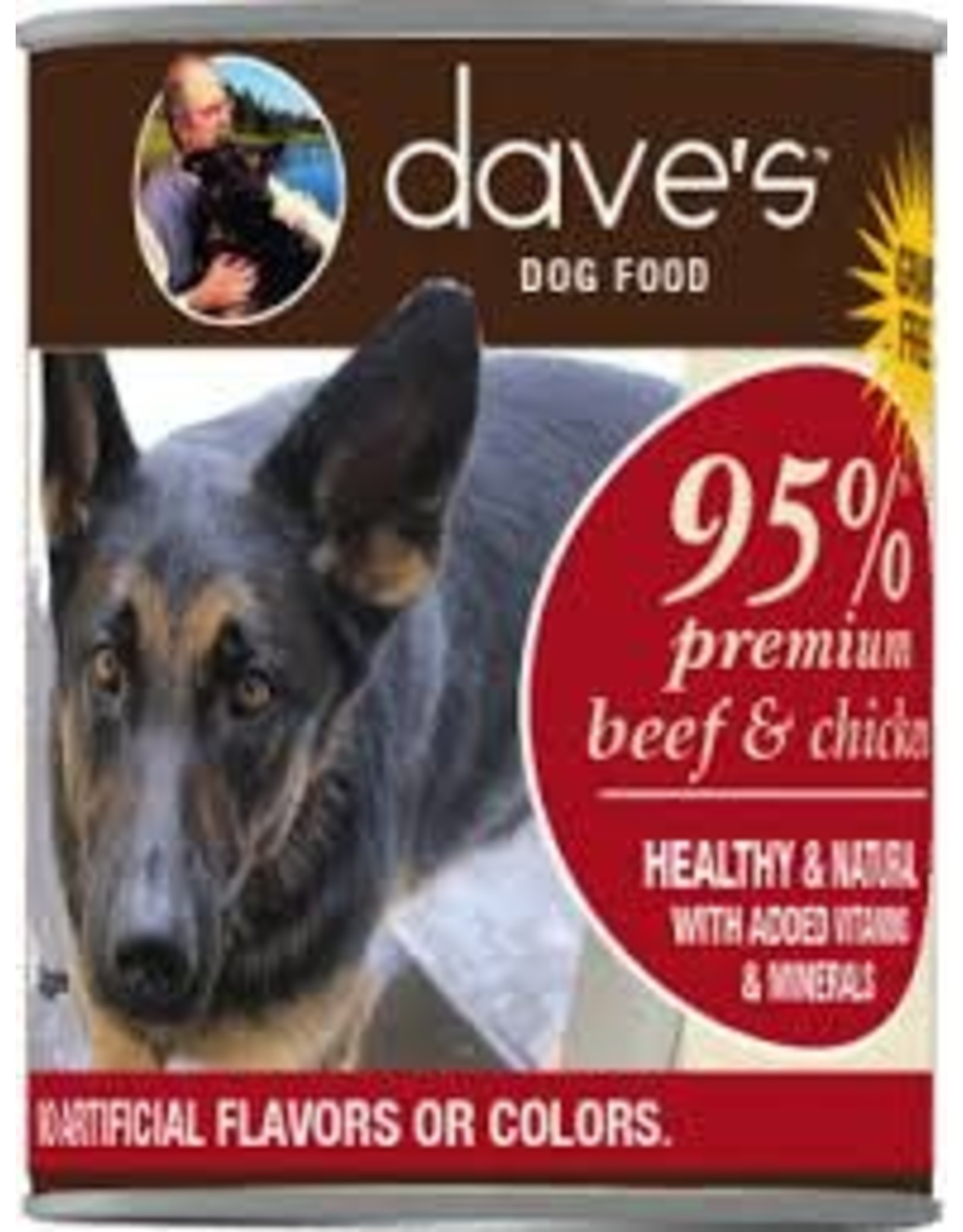 DAVE'S PET FOOD DAVE'S 95% BEEF & CHICKEN 13OZ