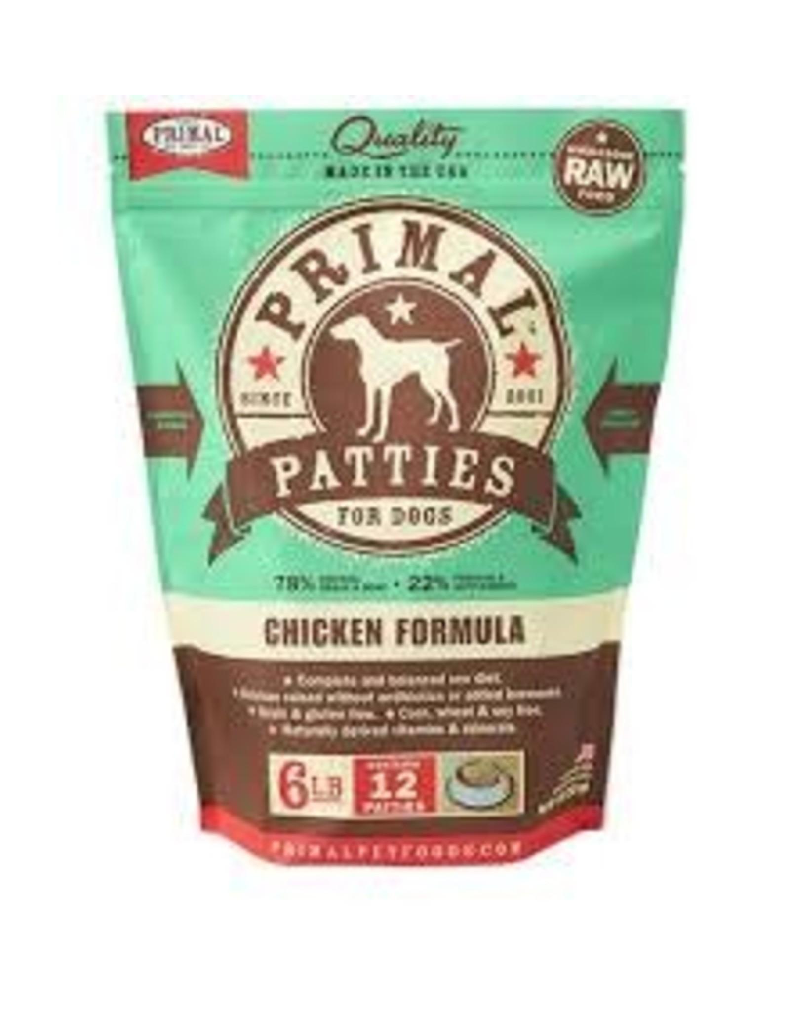 PRIMAL PRIMAL CHICKEN PATTIES 6#