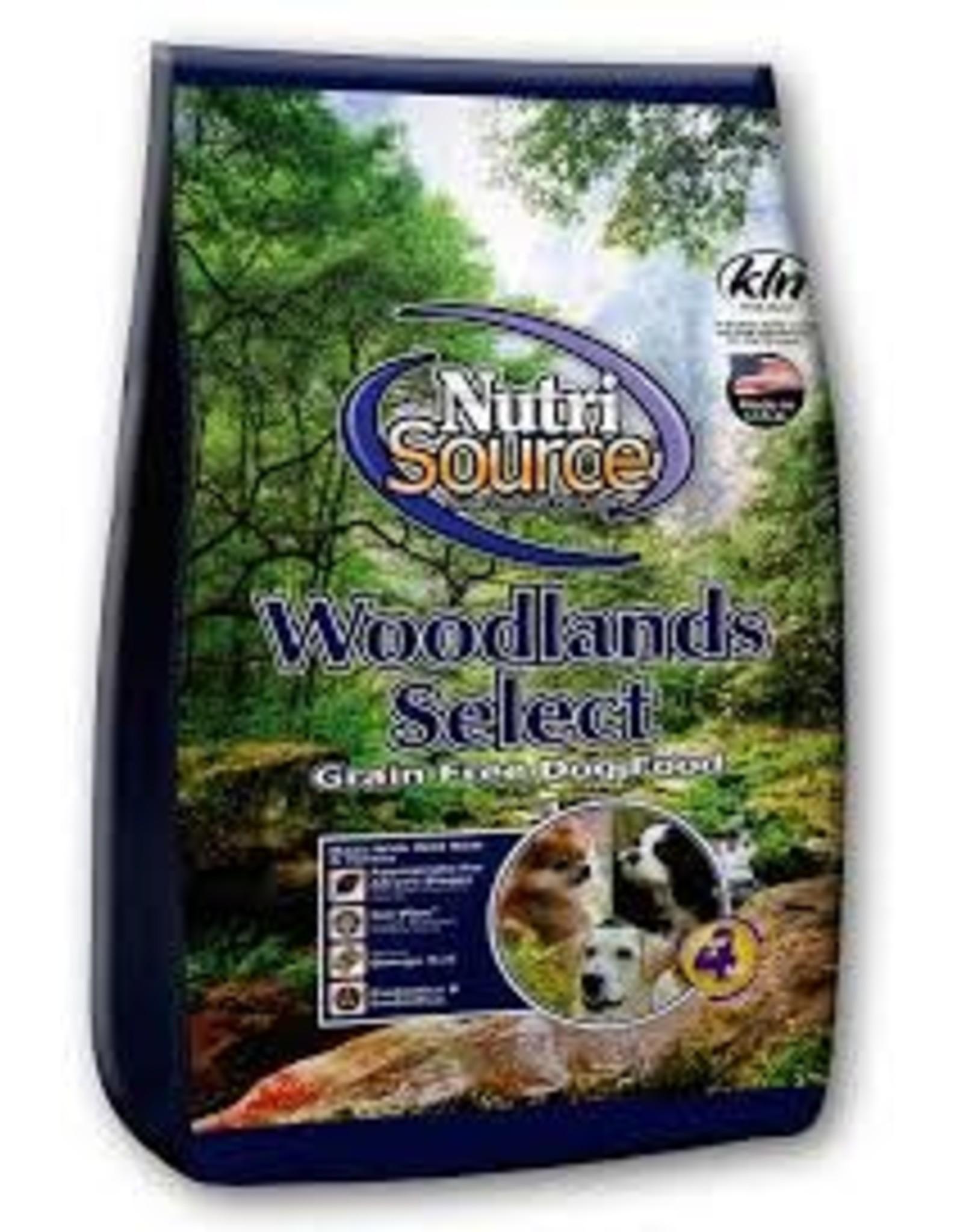 NUTRI SOURCE NUTRI SOURCE GRAIN FREE WOODLANDS 5#