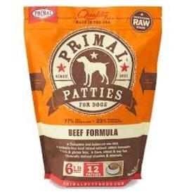 PRIMAL PRIMAL BEEF PATTIES 6#