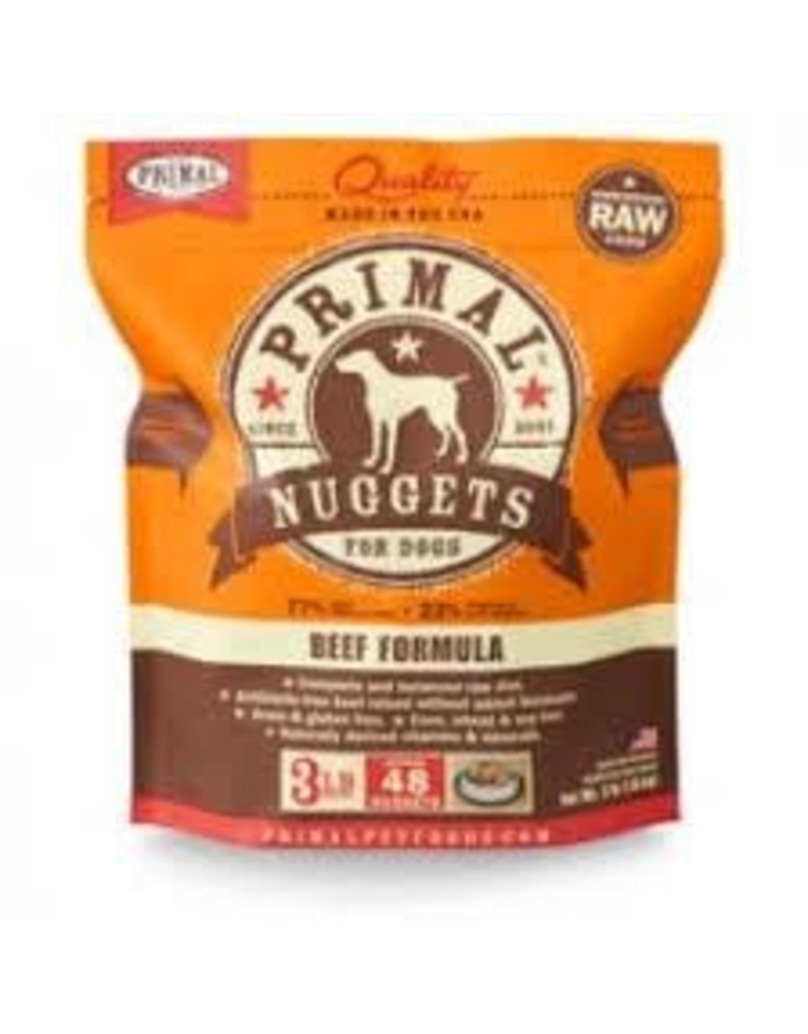 PRIMAL PRIMAL BEEF NUGGETS 3#