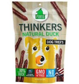 PLATO PET TREATS PLATO THINKERS DUCK STICK 10OZ