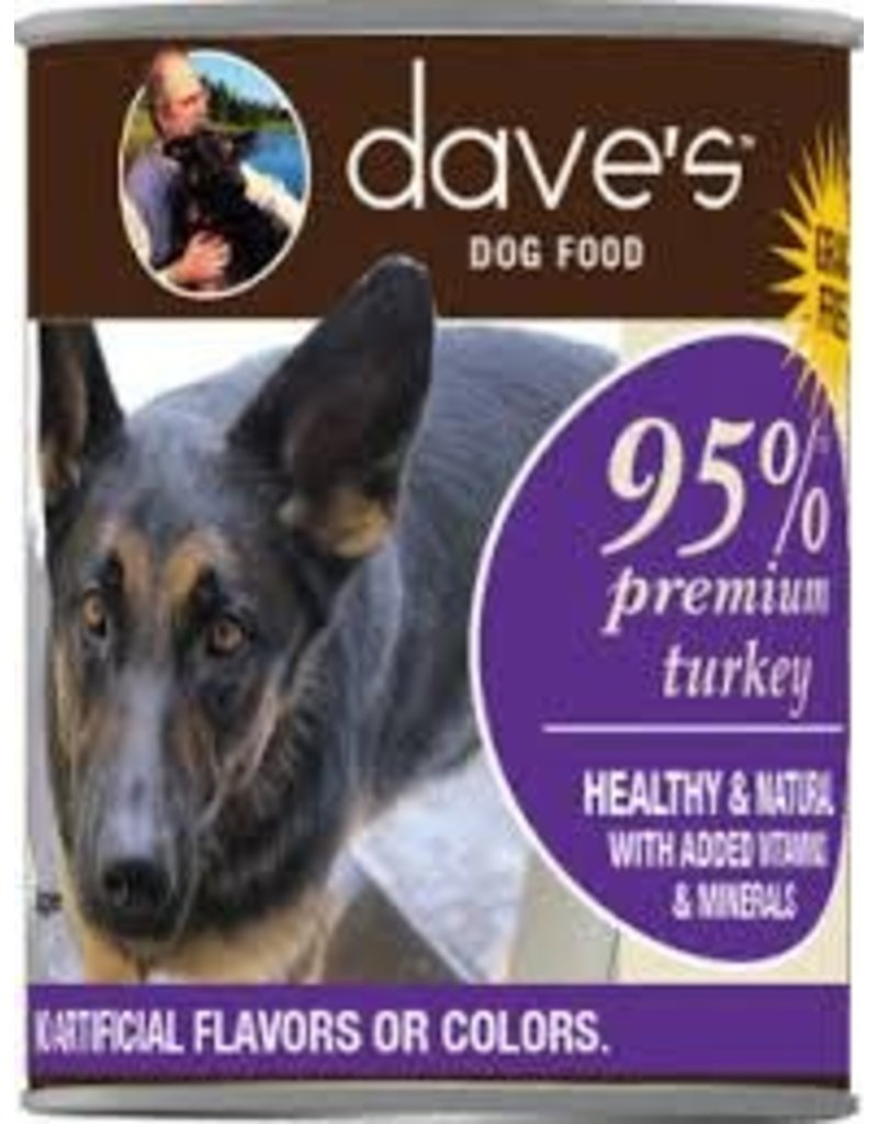DAVE'S PET FOOD DAVE'S 95% TURKEY 130Z