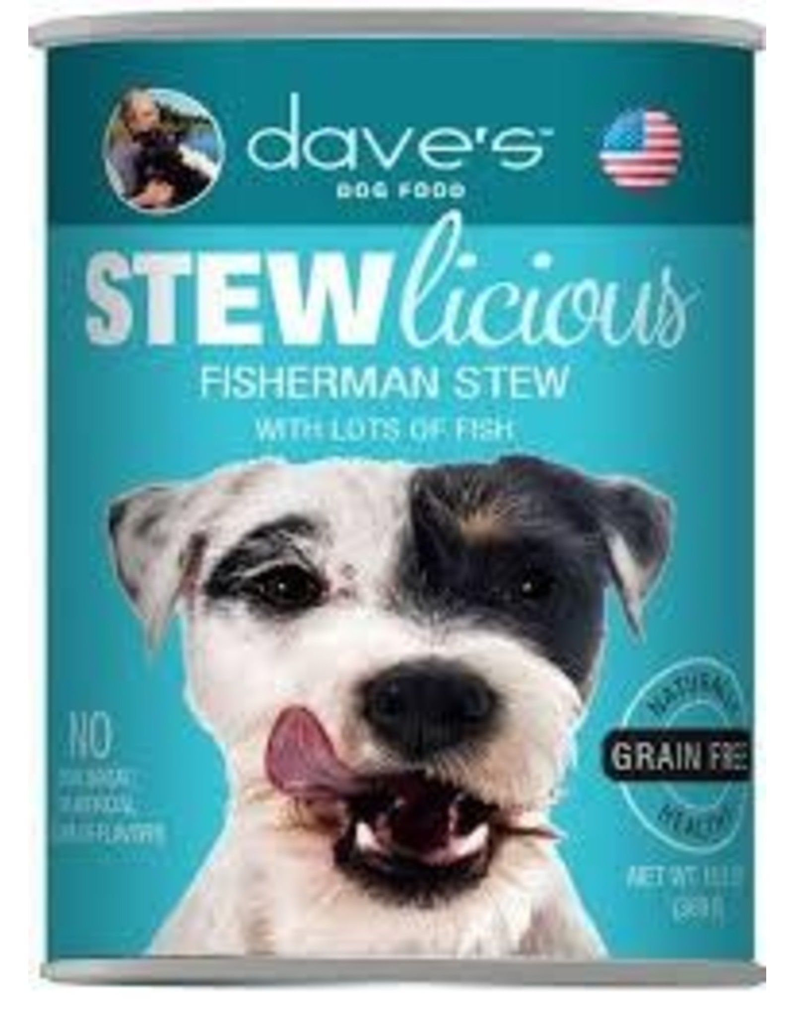 DAVE'S PET FOOD DAVE'S  STEW GRAIN FREE FISHERMAN 13OZ