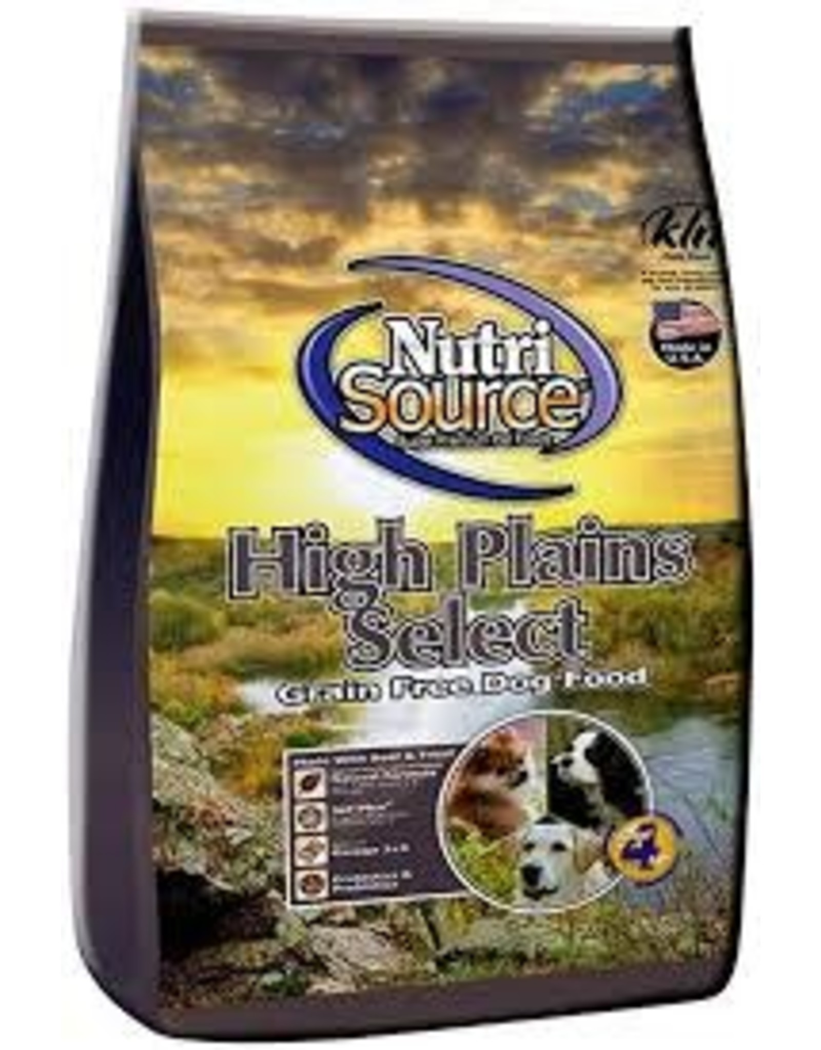 NUTRI SOURCE NUTRI SOURCE GRAIN FREE HIGH PLAINS SELECT 15#