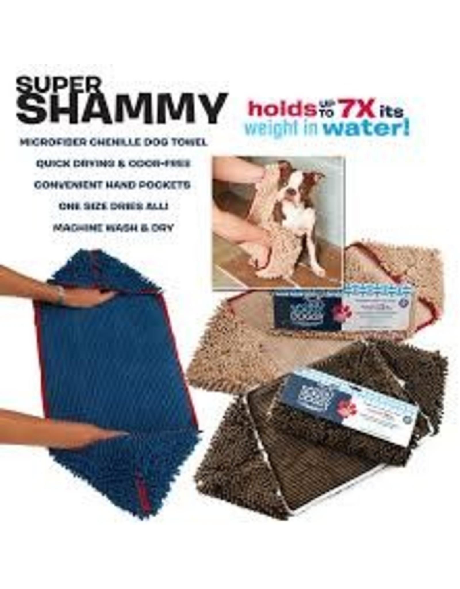 SOGGY DOGGY SUPER SHAMMY BLUE W/RED TRM 31X14IN