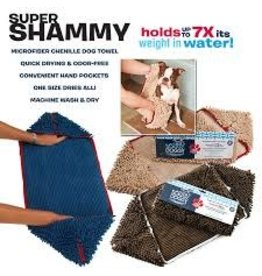 SOGGY DOGGY SUPER SHAMMY BLUE W/RED TRM 31X14IN