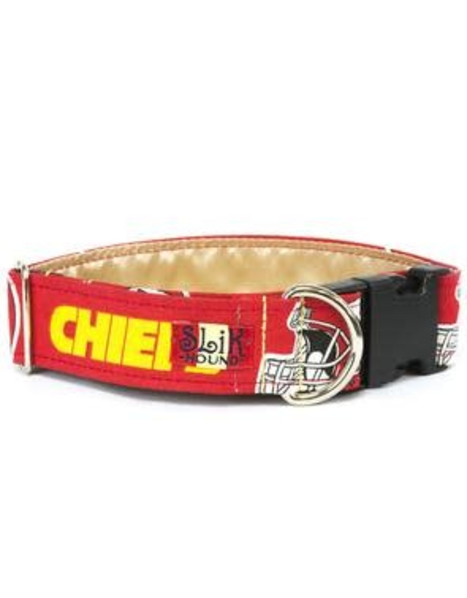 SLIK HOUND SLIK HOUND KC CHIEFS COLLAR 10-16IN .75W