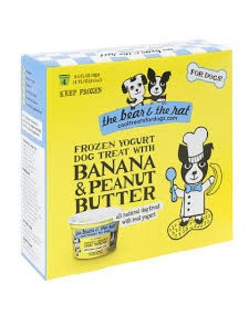 THE BEAR AND THE RAT THE BEAR & THE RAT BANANA & PEANUT BUTTER, 3.5 OZ. CUPS/PK OF 4