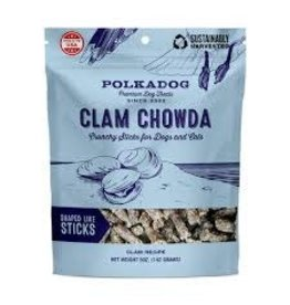 POLKA DOG BAKERY POLKADOG CLAM CHOWDA DOG TREATS 5 OZ
