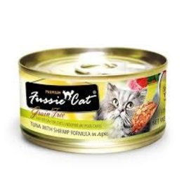FUSSIE CAT FUSSIE CAT GRAIN FREE TUNA SHRIMP CAN 2.82OZ