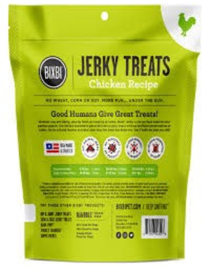 BIXBI & RAWBBLE BIXBI JERKY TREATS CHICKEN RECIPE 10OZ