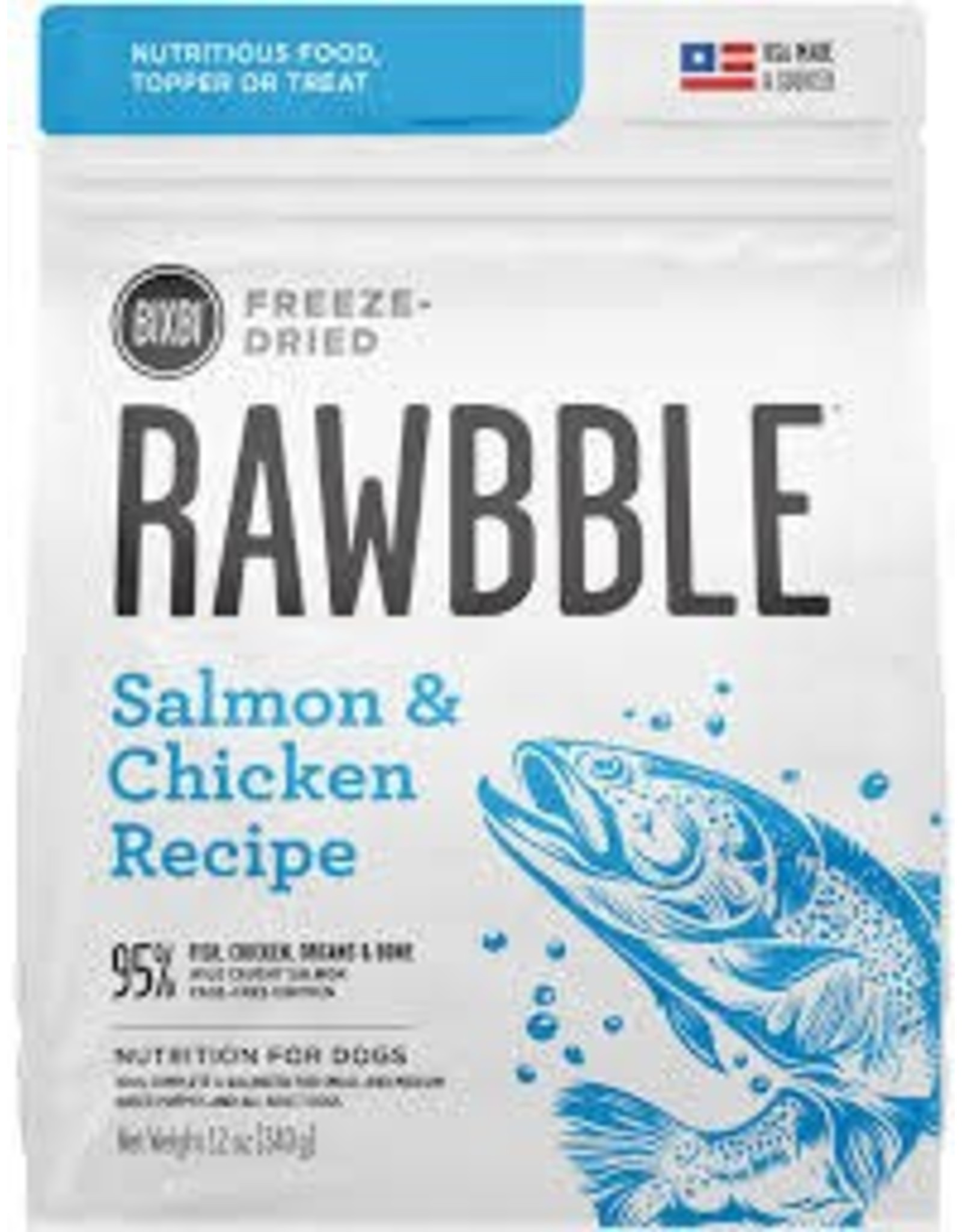 BIXBI & RAWBBLE RAWBBLE FREEZE DRIED SALMON & CHICKEN RECIPE 4.5 OZ