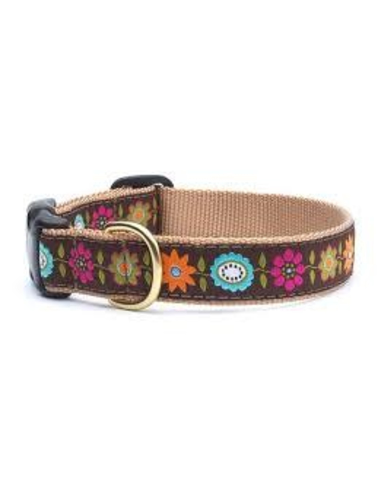 UP COUNTRY UP COUNTRY BELLA FLORAL DOG COLLAR MED WIDE
