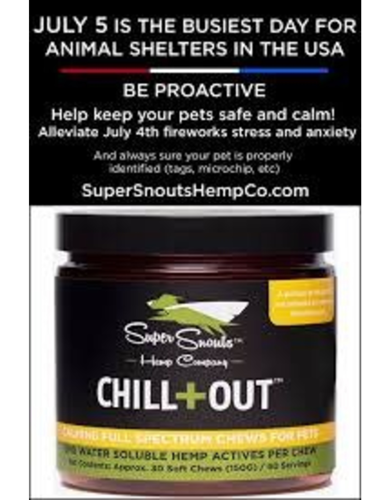 DIGGIN YOUR DOG SUPER SNOUT CHILL OUT HEMP CHEWS 30 CT