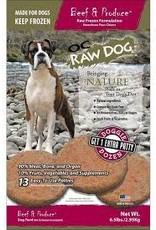 OC RAW OC RAW BEEF & PRODUCE, 6.5 LB PATTY BAG