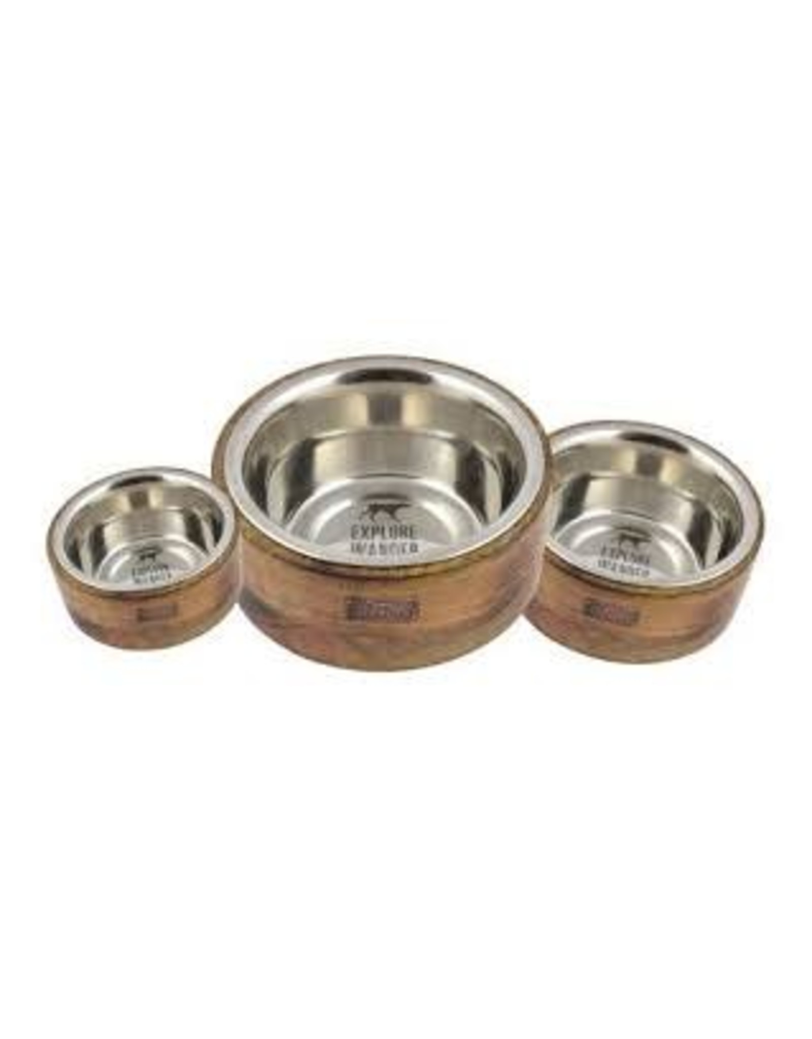 TALL TAILS TALLTAILS DOG BOWL STAINLESS WOOD 3 CUP