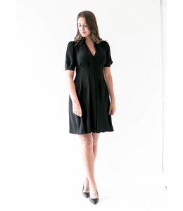 MICHAEL KORS WAIST SHIRT DRESS - 6BZ - BLACK