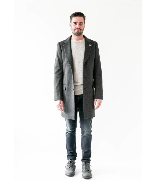 SCOTCH AND SODA 3 BUTTON COAT - 172 - CHARCOAL