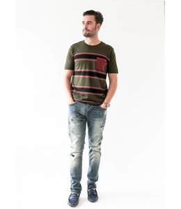 SCOTCH AND SODA MERINO WOOL TEE - 615 - OLIVE