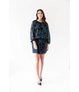 PARKER CHRISTINA DRESS - 6PPF - BLUE FLORAL
